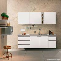 Armario-para-cozinha-branco-Blu-200-com-porta-e-gavetas-brancas-Bumi