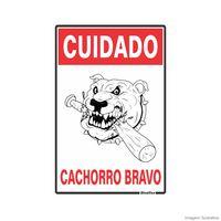 Placa-de-sinalizacao-20X30cm-CUIDADO-CACHORRO-BRAVO-Sinalize