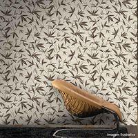 Papel-de-parede-folhagem-marrom-bege-e-prata-Casa-Bella-vinilizado-53cm-x-10m-Muresco