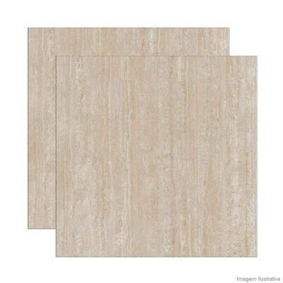 Porcelanato retificado 87,7x87,7cm Travertino polido snow Portinari 39a9f7c6ef