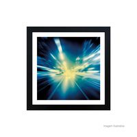 Quadro-decorativo-Speed-of-Light-33x33cm-preto-Infinity