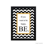 Quadro-decorativo-Be-Happy-28x38cm-preto-Infinity