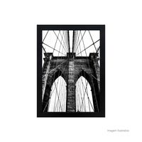 Quadro-decorativo-Brooklyn-Bridge-28x38cm-preto-Infinity