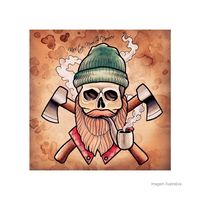 Placa-decorativa-Stylish-Skull-20x20cm-Infinity