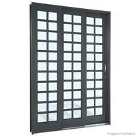Porta-de-correr-3-folhas-Silenfort-217x150x14cm-quadriculada-Sasazaki
