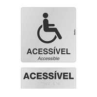 Placa-de-aluminio-30x21cm---ACESSIVEL-ACCESSIBLE---braille-natural-Sinalize