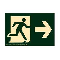 Placa-de-sinalizacao---SAIDA-DE-EMERGENCIA---seta-reta-para-a-direita-verde-Sinalize
