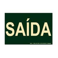 Placa-de-sinalizacao---SAIDA---verde-Sinalize