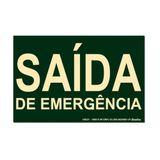 Placa de sinalização - SAÍDA DE EMERGÊNCIA - verde Sinalize