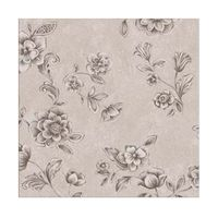 Papel-de-parede-floral-prata-cinza-e-bege-Casa-Bella-vinilizado-53cm-x-10m-Muresco