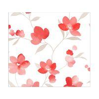Papel-de-parede-floral-vermelho-branco-e-cinza-Allegra-vinilico-53cm-x-10m-Muresco