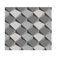 Papel-de-parede-geometrico-cinza-e-preto-Allegra-3D-vinilico-53cm-x-10m-Muresco