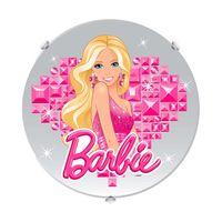 Plafon-para-lampada-E27-Barbie-Bailarina-30cm-colorido-Startec