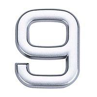 Numero-9-de-ABS-auto-adesivo-39cm-cromado-Bemfixa