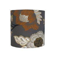 Cupula-de-tecido-Floral-20x20cm-cinza-e-amarelo-LS-Ilumina