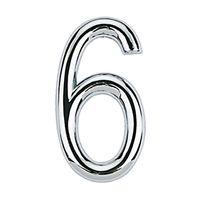Numero-6-de-aco-Zamac-auto-adesivo-75cm-cromado-Bemfixa