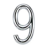Numero-9-de-aco-Zamac-auto-adesivo-75cm-cromado-Bemfixa