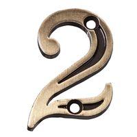 Numero-2-para-Apartamento-de-zamac-latonado-oxidado-Uniao-Mundial