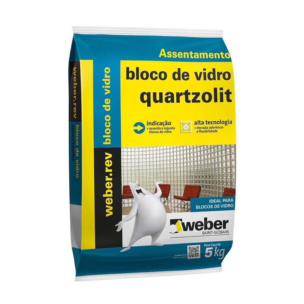 Argamassa Fermaglass Para Bloco De Vidro 5kg Branca Quartzolit  -> Tijolo De Vidro Marrom