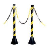 Pedestal-de-PVC-para-sinalizacao-zebrado-tamanho-unico-preto-e-amarelo-Balaska
