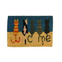 Capacho-fibra-de-coco-60x40cm-Gatos-colorido-Coisas-e-Coisinhas