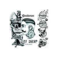 Placa-decorativa-Gentlemen-20x20cm-Infinity