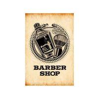 Placa-decorativa-Barber-Shop-20x30cm-Infinity