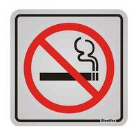 Placa-de-aluminio-Proibido-Fumar-preto-e-vermelho-Sinalize