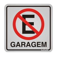 Placa-de-aluminio-Garagem-Proibido-Estacionar-preto-e-vermelho-Sinalize