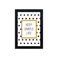Quadro-decorativo-Simple-Life-23x33cm-preto-Infinity
