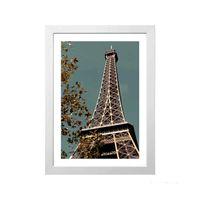 Quadro-decorativo-Eiffel-Tower-II-28x38cm-branco-Infinity