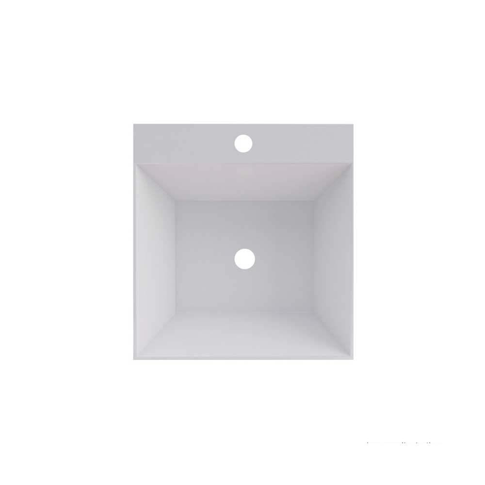Cuba De Sobrepor Quadrada Com Caixa Cubo 35x37cm Branca Cozimax