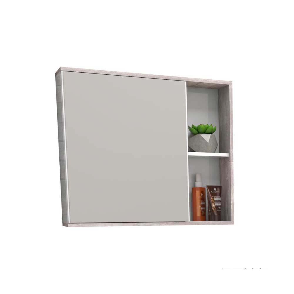 Espelheira De Sobrepor Caete 60×52 4cm Branca Com Calcare Cozimax