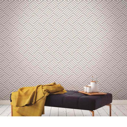 0d2ef465e Papel de parede geométrico cinza 3508 52cm x 10m vinílico Revex ...