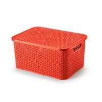 Caixa-organizadora-com-tampa-mosaico-16L-vermelho-Arthi