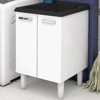 Gabinete-de-lavanderia-com-tanque-Flat-60x61cm-branco-e-preto-Cozimax