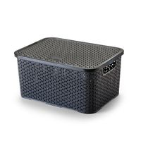 Caixa-organizadora-com-tampa-mosaico-16L-preto-Arthi