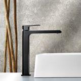 Torneira de mesa para lavatório bica alta Line Black Lorenzetti