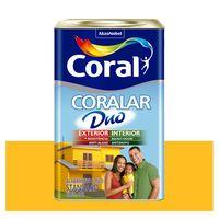 Tinta-Coral-Economica-Coralar-Duo-acrilica-fosca-amarelo-frevo-18L-