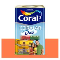 Tinta-Coral-Economica-Coralar-Duo-acrilica-fosca-laranja-maracatu-18L-
