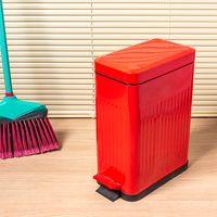 Lixeira-de-zinco-10L-com-pedal-vermelha-Coisas-e-Coisinhas-1554123