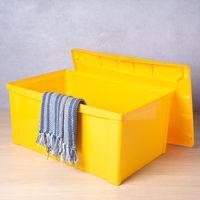 Caixa-organizadora-com-tampa-65L-plastico-amarelo-Color-Ordene-1520113