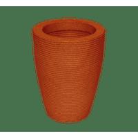 Vaso-Vasap-Design-Cone-Riscato-Alt--45-cm-X-Larg--30-cm-Terracota-1626701